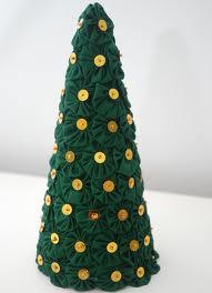 Arvore de Natal Feita de Fuxico Artesanal – Fotos e Como Fazer