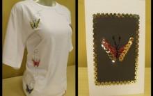 Camiseta Bordada em Lantejoulas Motivo Borboleta – Como Customizar e Vídeo