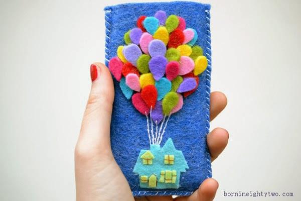 Capa de Celular Com Feltro Motivo Balões – Material e Como Fazer