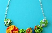 Como Fazer Colar de Fuxicos Coloridos – Material e Passo a Passo