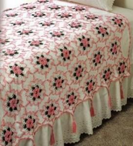 colcha-flor-rosa