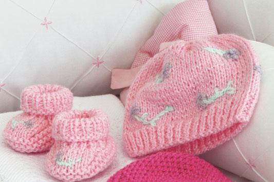 Sapatinho Rosa de Bebê Em Tricô – Passo a Passo