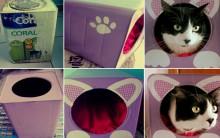 Como Fazer Casinha de Gato Com Lata de Tinta – Vídeo do Passo a Passo