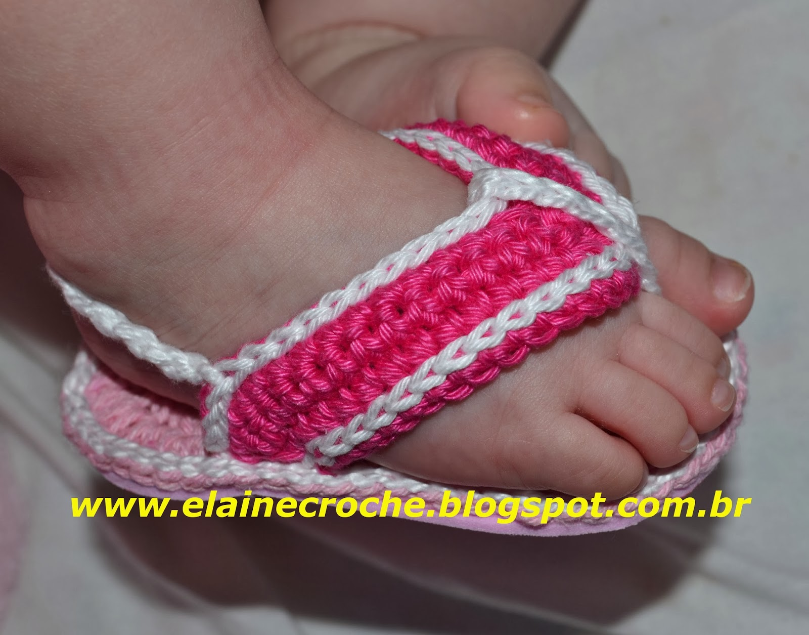 Chinelo de Bebê em Crochê com Sola em Eva – Vídeo aula – Material