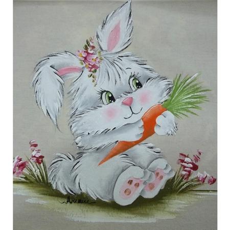 Pintura em Fralda Motivo Coelha Pascal – Dicas e Vídeo