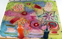 Como Fazer Lenço de Seda Colorido –  Material e Passo a Passo