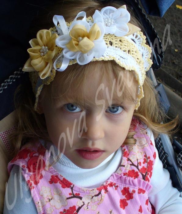tiara-croche-flores-amarela