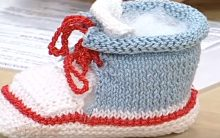 Botinha de Bebê Tricô Com Cadarço – Material e Passo a Passo