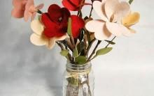 Como Fazer Arranjo de Flores Usando Feltro – Material e Passo a Passo