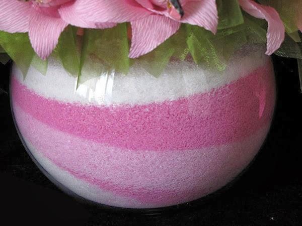 Decoração de Vasos com Sal Colorido – Material e Passo a Passo