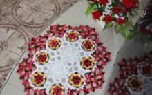 Flor Em Pétalas de Crochê – Material e Passo a Passo