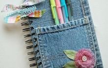 Agenda Usando Jeans Velho – Como Fazer
