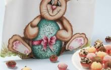 Pano de Prato Para Páscoa Com Crochê e Pintura – Como Fazer