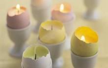 Vela Usando Casca de Ovo – Como Fazer
