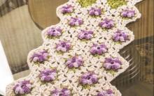 Caminho de Mesa Florido de Crochê – Passo a Passo e Gráficos