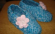 Como Fazer Pantufa Azul Em Crochê – Material, Passo a Passo e Vídeo