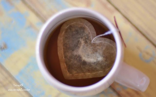 Sachê de Chá em Forma de Coração – Como Fazer