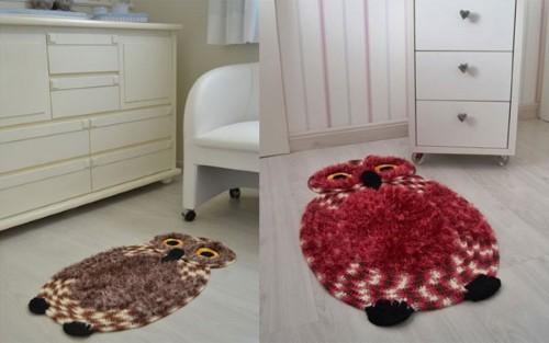 Tapete de Barbante Coruja Charmosa Feita de Crochê –  Gráfico e Como Fazer