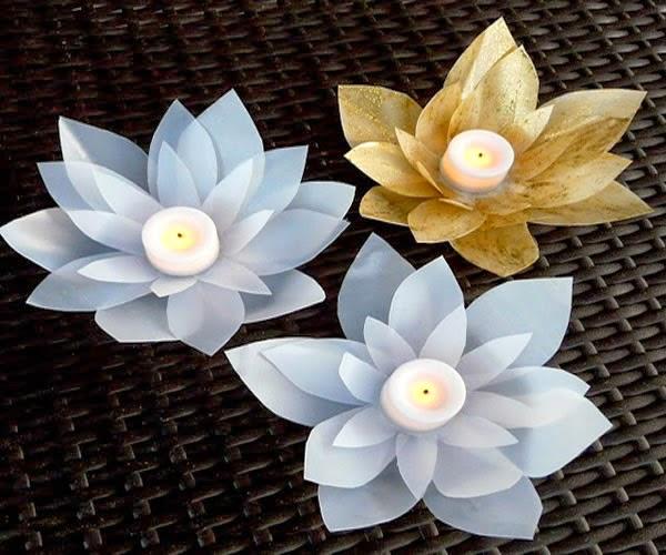 Velas Decorativas Em Formato de Flor – Como Fazer