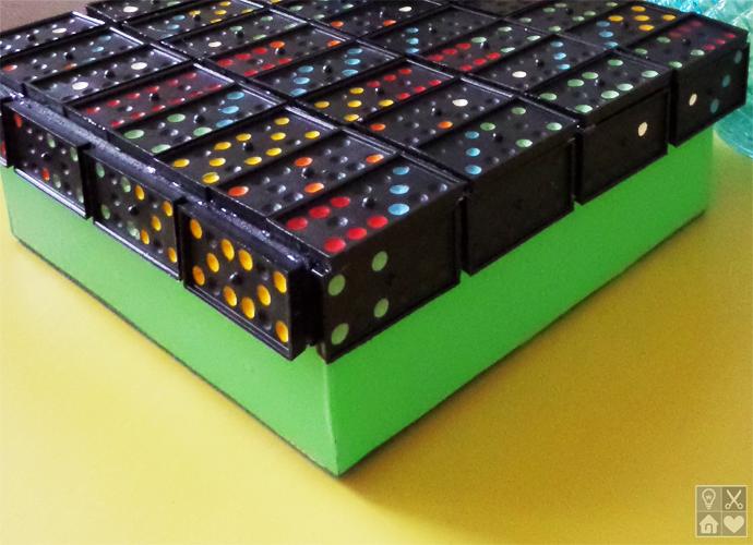 Caixa de MDF Decorada Com Dominó – Passo a Passo