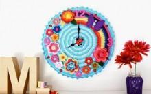 Relógio Feito de Crochê Com Flores – Dicas e Como Fazer