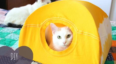 Barraca Para Gatos Feito Com Camiseta – Passo a Passo