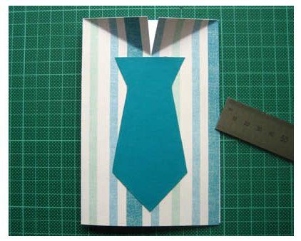 camisa-cartão-papel-gravata