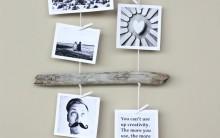 Enfeite de Fotos Feito com Galhos – Material e Como Fazer