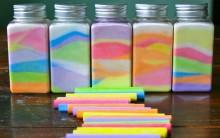 Garrafas Com Sal Colorido – Como Fazer