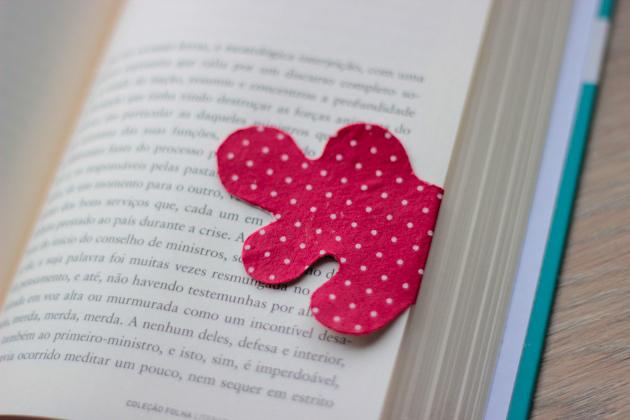 Marcador de Páginas Com Tecido – Como Fazer