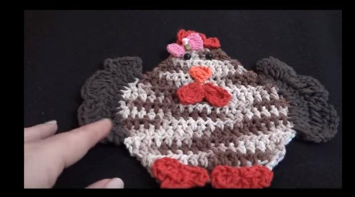 Galinha de Crochê Para Aplique – Vídeo de Como Fazer