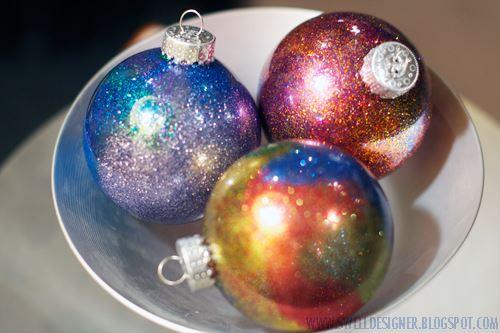 Bolas de Natal Galaxy – Como Fazer