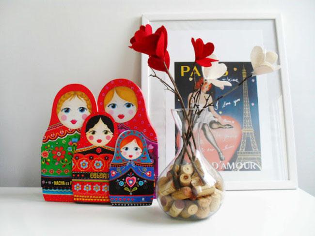 Arranjo Com Flores de Feltro – Passo a Passo