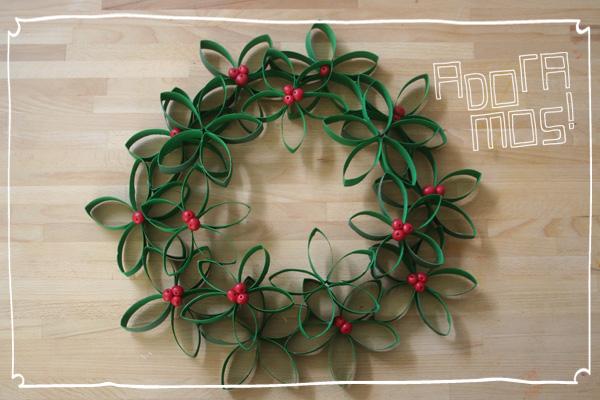 Guirlanda de Natal Reciclada  – Como Fazer Passo a Passo