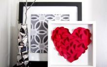 Quadro Decorativo Coração – Como Fazer