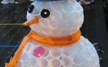 Boneco de Neve de Copo Descartável – Materiais e Vídeo