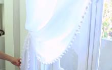 Cortina de Pompom – Materiais e Vídeo