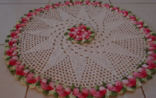 Tapete Redondo de Crochê – Materiais e Vídeo