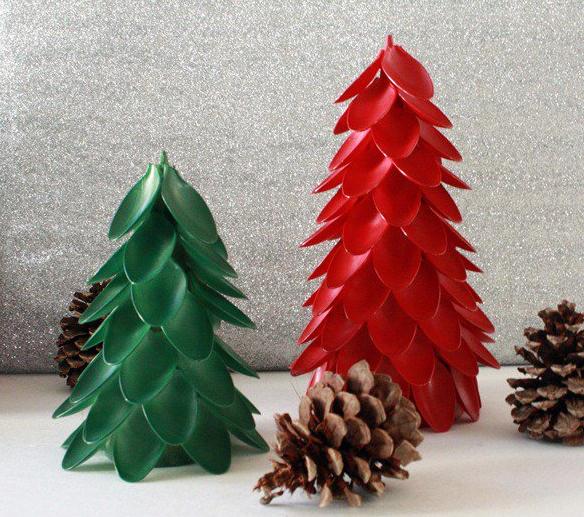 Árvore de Natal de Colher Descartável – Como Fazer