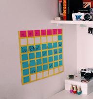 Calendário Feito de Post-It – Materiais e Vídeo
