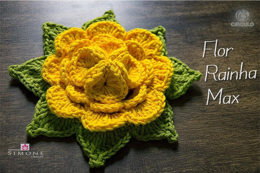 Flor em Crochê Rainha Max Amarela – Material e vídeo