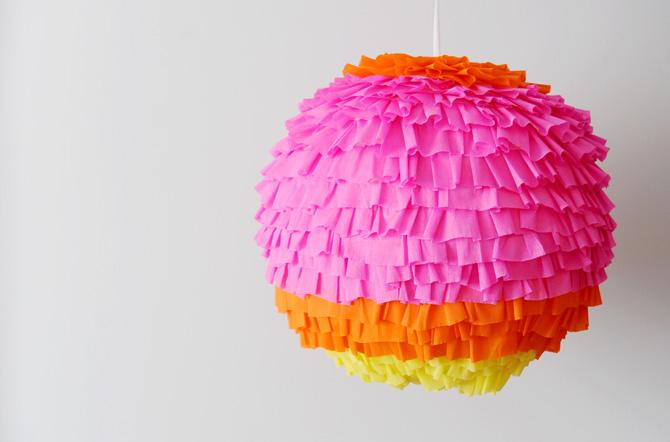 Luminária Babados Feito Com Crepom– Material e Como Fazer