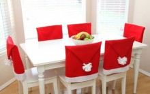 Forro de Natal para Cadeira Feita de Tecido – Material e Passo a Passo