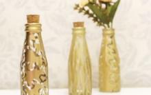 Garrafa Decorada com Cola Quente – Materiais e Vídeo