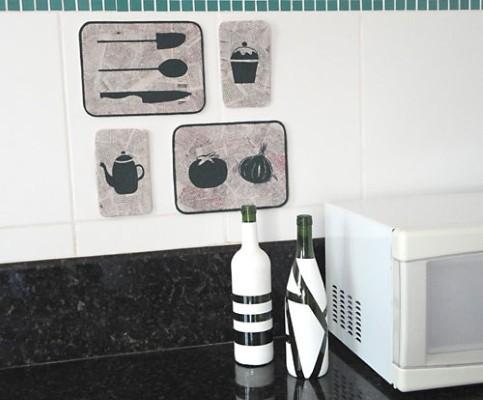 Quadro de Cozinha Feito de Isopor – Passo a Passo