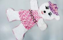 Tapete Ursa Kika Peluda Feita de Crochê – Material e Vídeo do Passo a Passo
