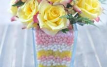 Vaso Decorado Com Balas e Flores – Como Fazer e Material