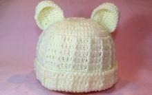 Touca Bebê Urso Feito de Crochê – Como Fazer