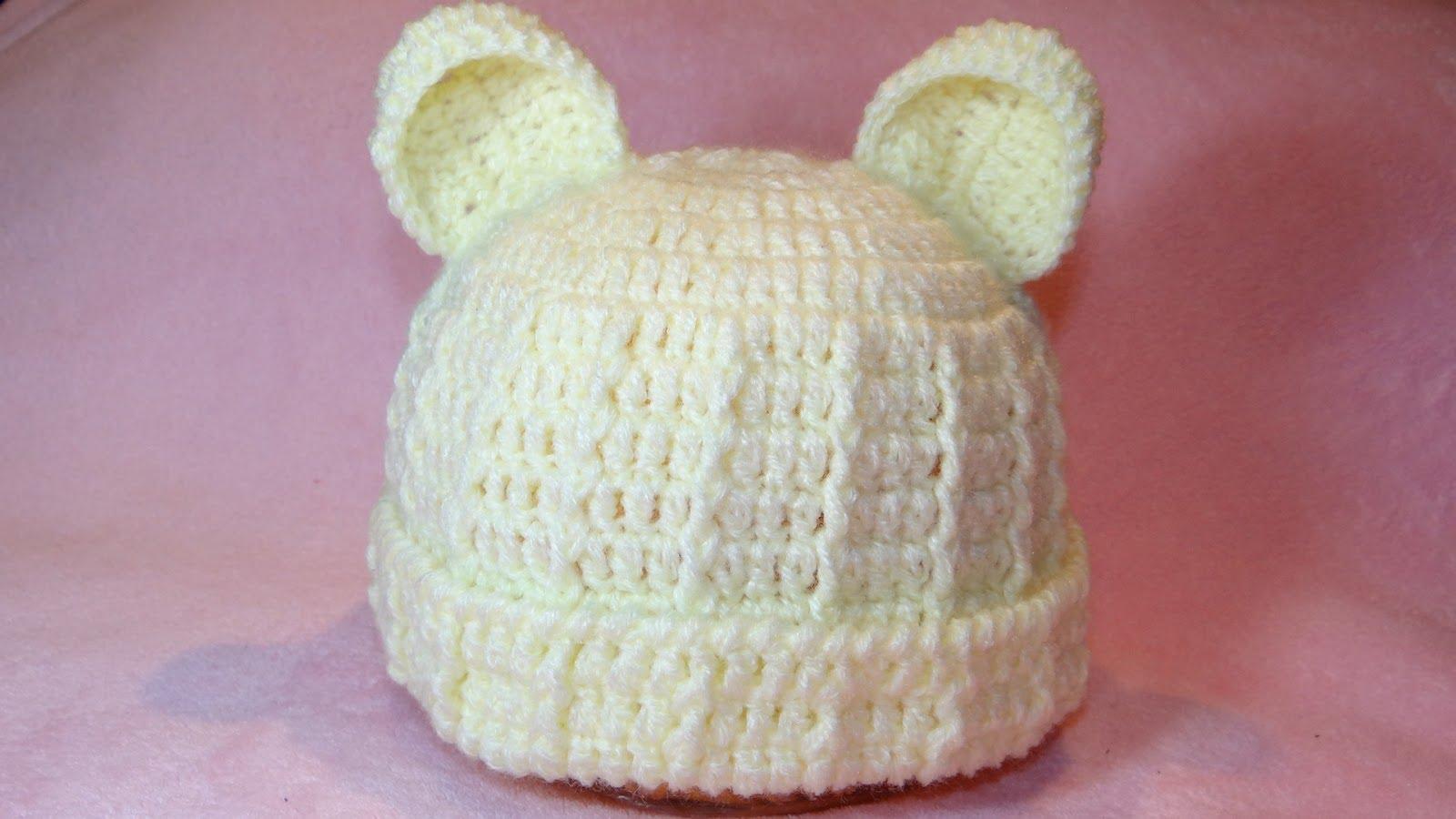 3e49d057da951 Touca Bebê Urso Feito de Crochê – Como Fazer
