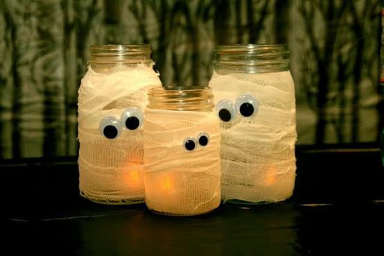 Pote de Vidro Decorado Halloween – Como Fazer